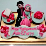 Pinkish couple pack for the neighbour, whole beautiful look ...