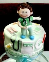 Cake tema dokter (Louis) :)