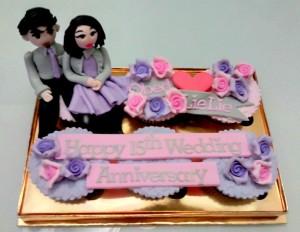 Dominasi purple, grey, dan pink menambah cantik paket ini....:-)