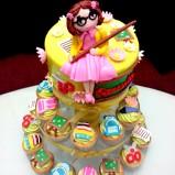 Penampakan cupcake stand Queenette dari atas :-)
