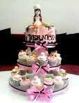 Cupcake stand tema chef buat Beatrice