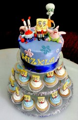 Sponge Bob Square Pant Cupcake stand