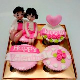 Cute couple in pinkish nuance